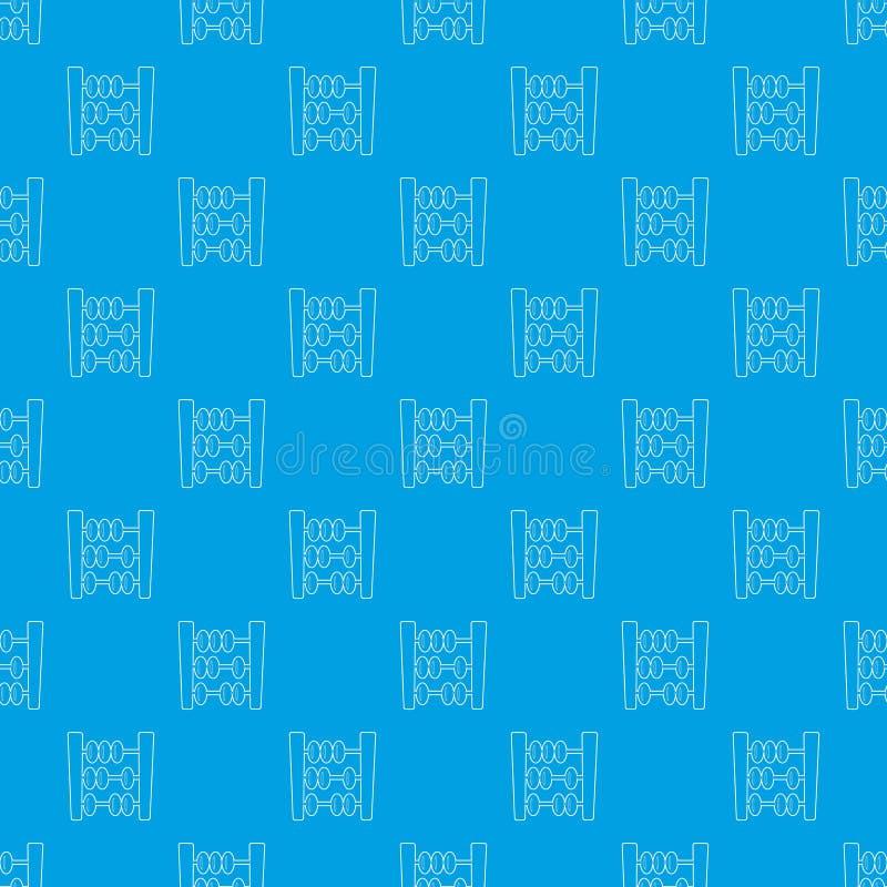 Διανυσματικό άνευ ραφής μπλε σχεδίων αβάκων ελεύθερη απεικόνιση δικαιώματος