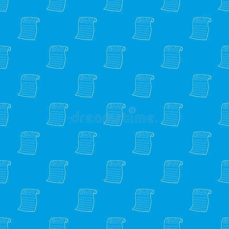 Διανυσματικό άνευ ραφής μπλε σχεδίων εφημερίδων διανυσματική απεικόνιση