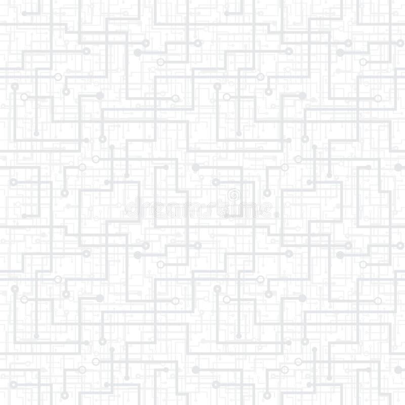Διανυσματικό άνευ ραφής πρότυπο - ηλεκτρονικό κύκλωμα schem ελεύθερη απεικόνιση δικαιώματος