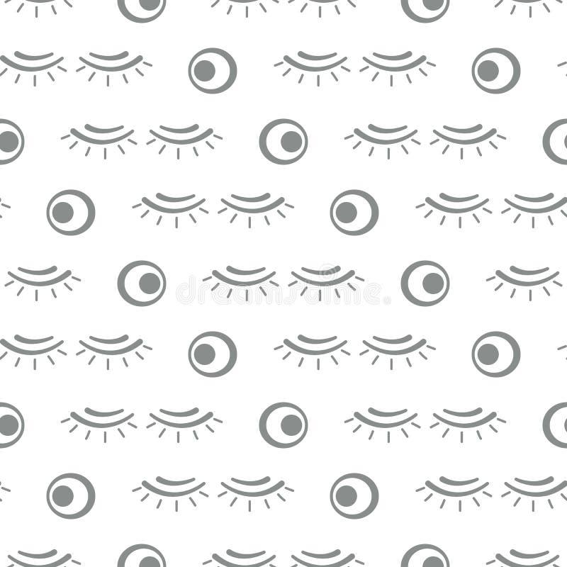 Διανυσματικό άνευ ραφής σχέδιο με τα eyelashes makeup απεικόνιση αποθεμάτων