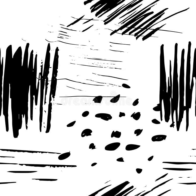 Διανυσματικό άνευ ραφής σχέδιο με τη συρμένη χέρι σύσταση grunge διανυσματική απεικόνιση
