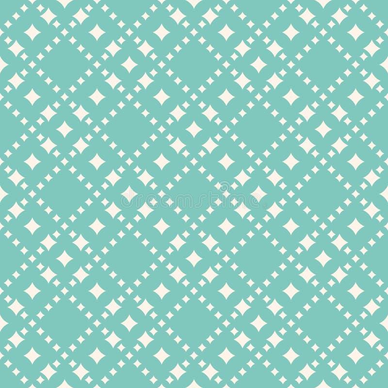 Διανυσματικό άνευ ραφής σχέδιο με τις μορφές διαμαντιών, αστέρια Αφηρημένο υπόβαθρο στα καθιερώνοντα τη μόδα χρώματα κρητιδογραφι διανυσματική απεικόνιση