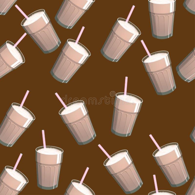 Διανυσματικό άνευ ραφής σχέδιο με το ποτό καφέ Σκηνικό με τα ποτά για τις επιλογές, τους καφέδες, τους φραγμούς και οποιοδήποτε ά διανυσματική απεικόνιση