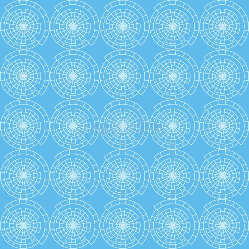Διανυσματικό άνευ ραφής σχέδιο του αφηρημένου κύκλου διανυσματική απεικόνιση