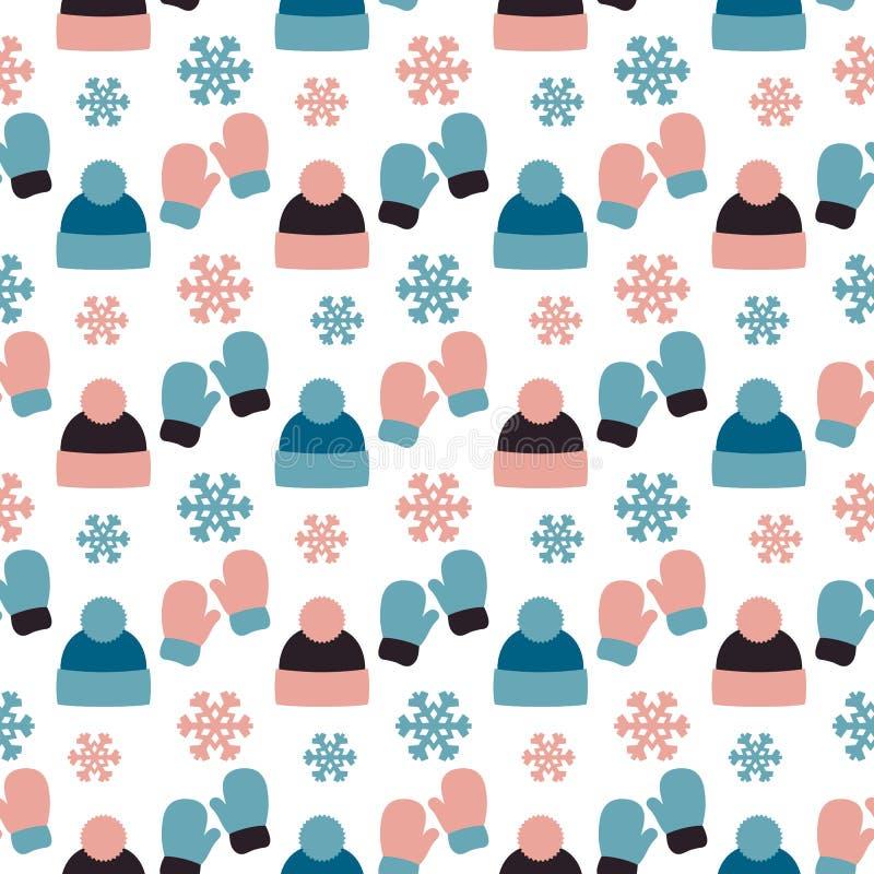 Διανυσματικό άνευ ραφής σχέδιο του χειμερινού υποβάθρου ελεύθερη απεικόνιση δικαιώματος