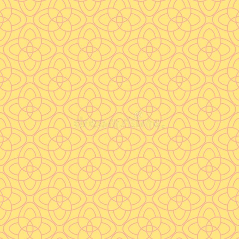 Διανυσματικό άνευ ραφής σχέδιο των αφηρημένων λουλουδιών ελεύθερη απεικόνιση δικαιώματος