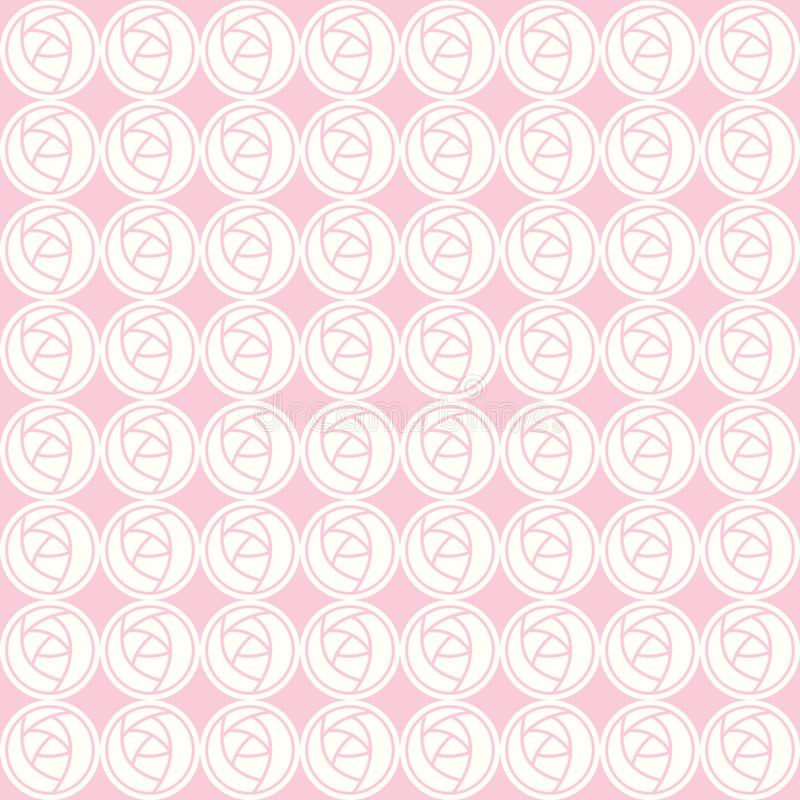 Διανυσματικό άνευ ραφής σχέδιο των αφηρημένων τριαντάφυλλων ελεύθερη απεικόνιση δικαιώματος