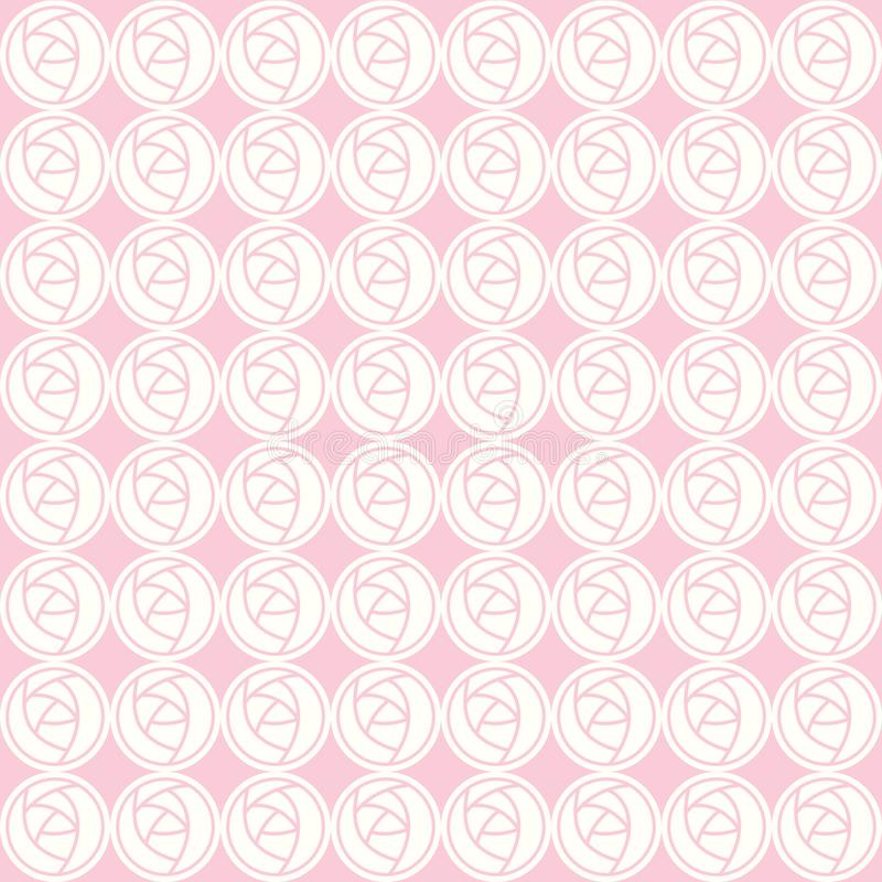 Διανυσματικό άνευ ραφής σχέδιο των αφηρημένων τριαντάφυλλων απεικόνιση αποθεμάτων