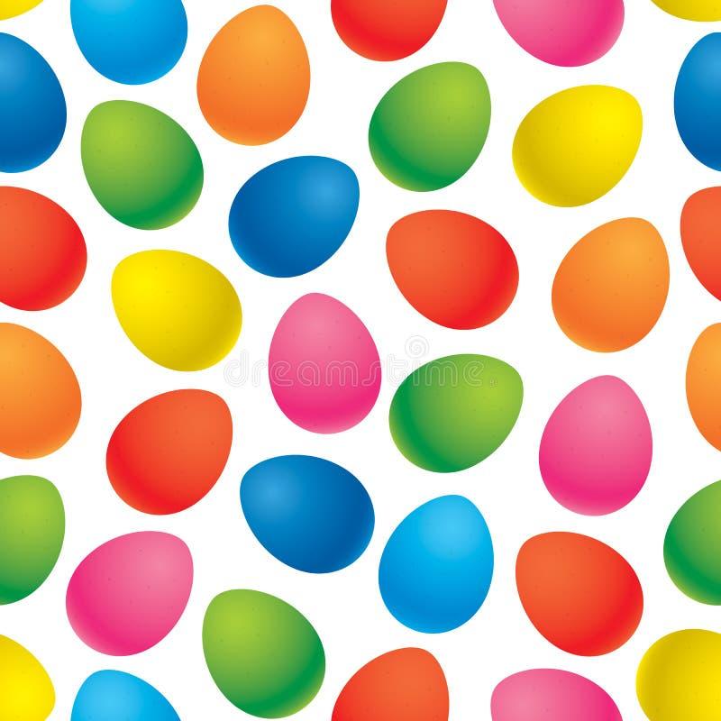 Διανυσματικό άνευ ραφής σχέδιο αυγών Πάσχας απεικόνιση αποθεμάτων