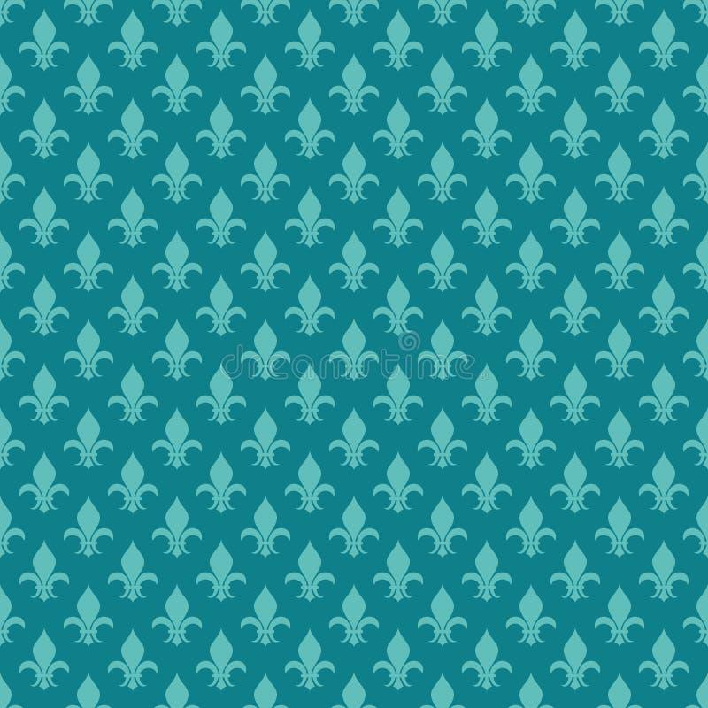 Διανυσματικό άνευ ραφής σχέδιο κιρκιριών fleur de lis ελεύθερη απεικόνιση δικαιώματος