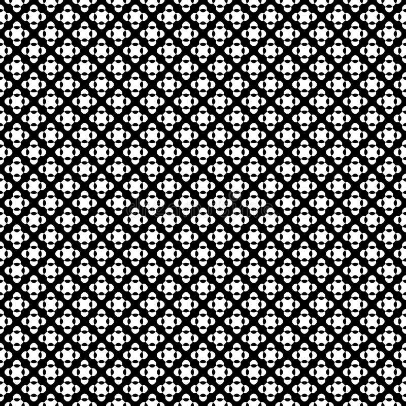 Διανυσματικό άνευ ραφής σχέδιο, μαύρος & λευκό που διασχίζουν τα σημεία διανυσματική απεικόνιση