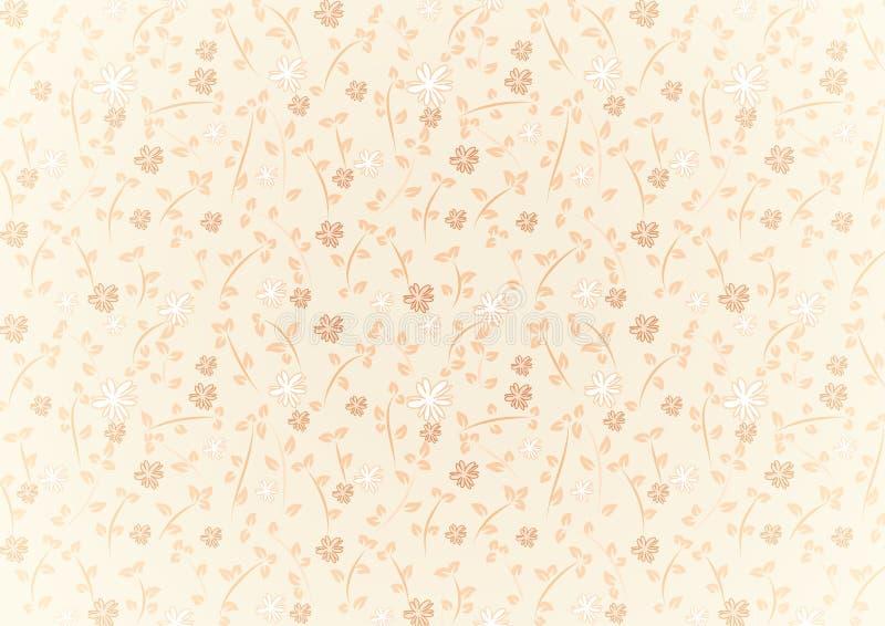 Διανυσματικό άνευ ραφής σχέδιο λουλουδιών απεικόνιση αποθεμάτων