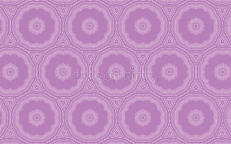 Διανυσματικό άνευ ραφής floral σχέδιο στα ιώδη και μωβ χρώματα απεικόνιση αποθεμάτων