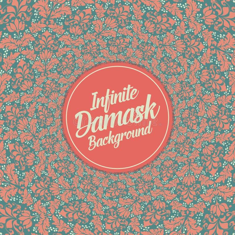 Διανυσματικό άπειρο damask υπόβαθρο διανυσματική απεικόνιση
