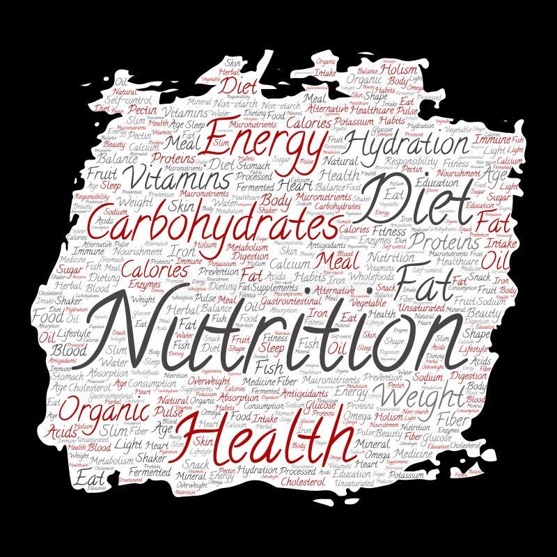 Διανυσματικό έγγραφο βουρτσών χρωμάτων διατροφής υγείας διατροφής απεικόνιση αποθεμάτων