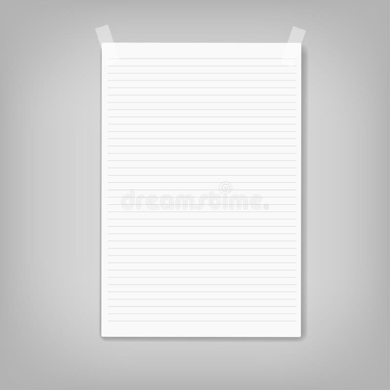 Διανυσματικό έγγραφο σημειώσεων χαρτικά, επιχειρησιακό έγγραφο στοκ εικόνες