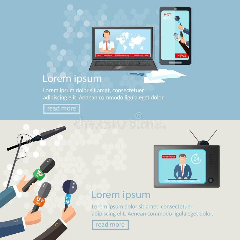 Διανυσματικό έμβλημα ειδήσεων ελεύθερη απεικόνιση δικαιώματος