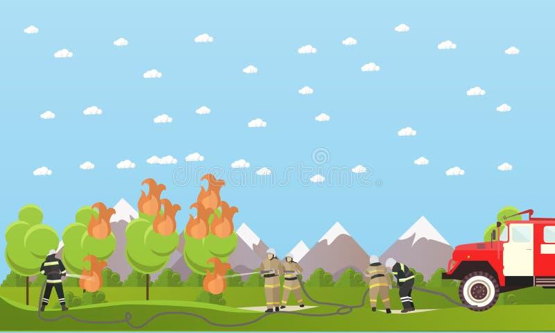 Διανυσματικό έμβλημα τμημάτων προσβολής του πυρός απεικόνιση αποθεμάτων