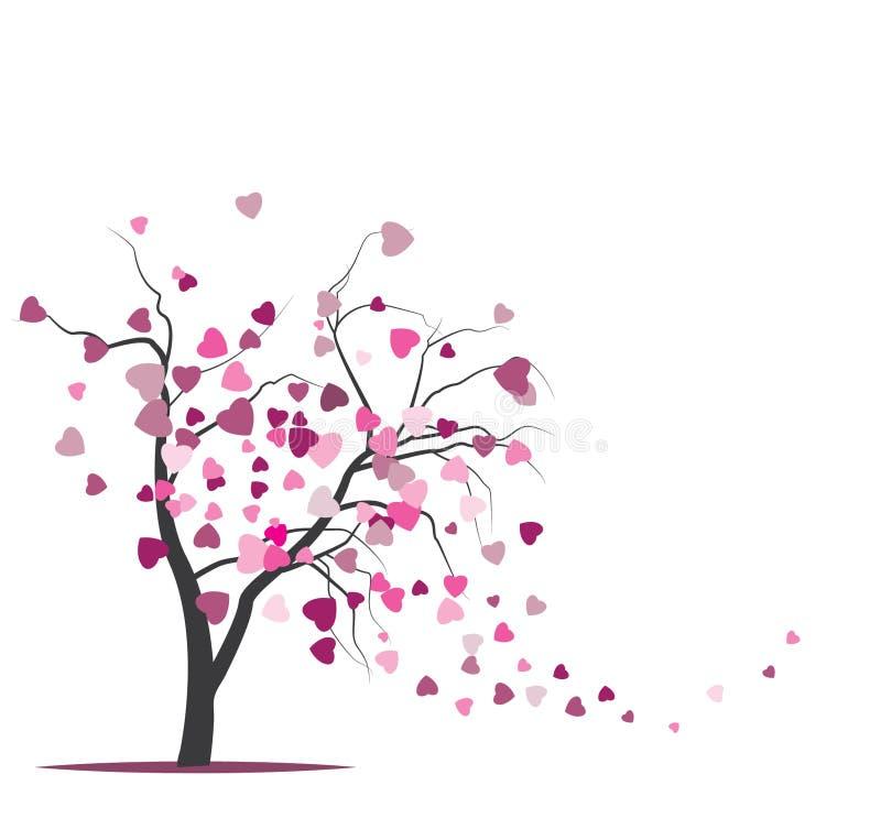 Διανυσματικό δέντρο με τα αρσενικά ελάφια ελεύθερη απεικόνιση δικαιώματος