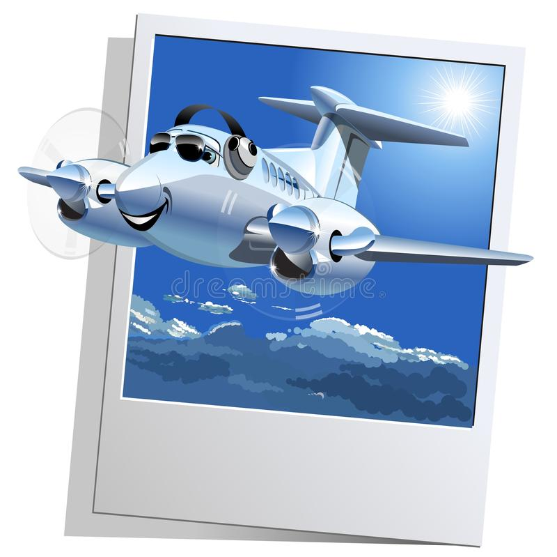 Διανυσματικό αεροπλάνο κινούμενων σχεδίων απεικόνιση αποθεμάτων