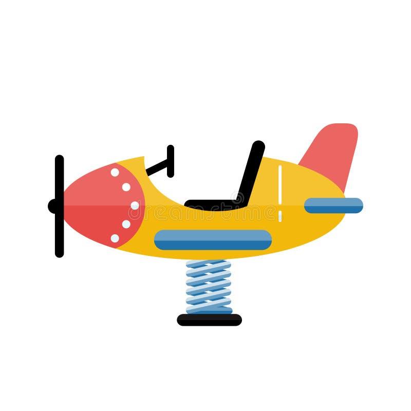 Διανυσματικό αεροπλάνο παιδικών χαρών παιδιών στο επίπεδο σχέδιο Τα παιδιά παίζουν το AR διανυσματική απεικόνιση