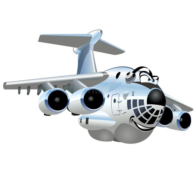 Διανυσματικό αεροπλάνο φορτίου κινούμενων σχεδίων διανυσματική απεικόνιση