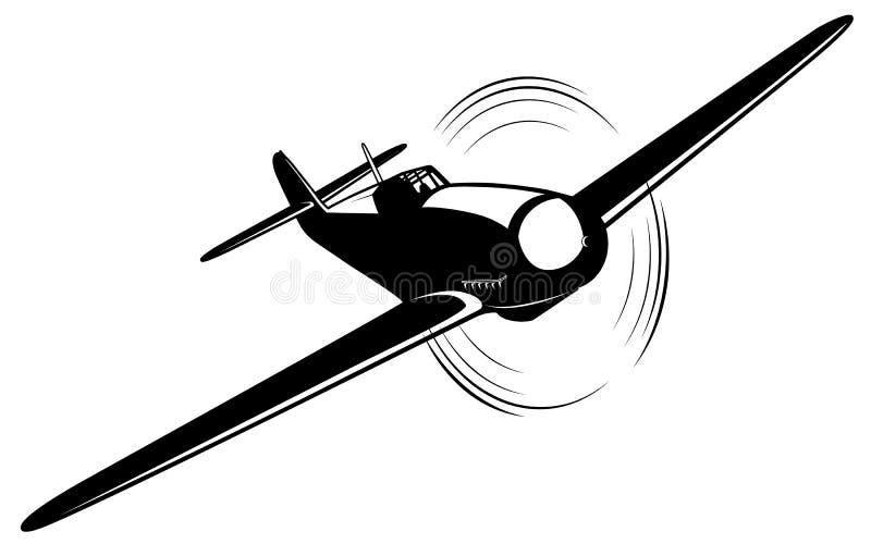 Διανυσματικό αεροπλάνο διανυσματική απεικόνιση