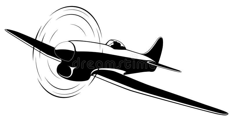 Διανυσματικό αεροπλάνο απεικόνιση αποθεμάτων