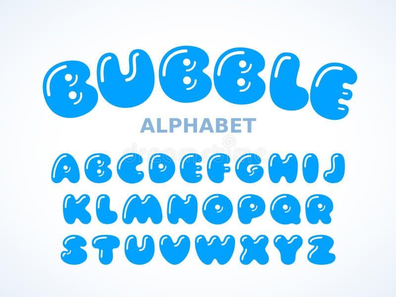 Διανυσματικό αλφάβητο φυσαλίδων διανυσματική απεικόνιση