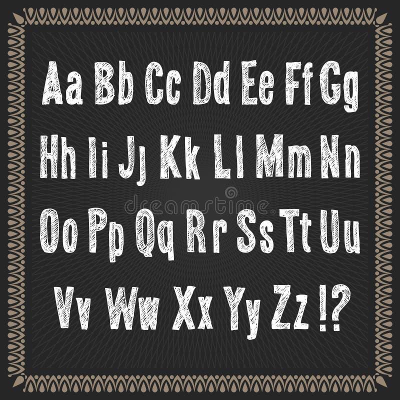 Διανυσματικό αλφάβητο χρώματος σε ένα πλαισιωμένο μαύρο υπόβαθρο στοκ φωτογραφία με δικαίωμα ελεύθερης χρήσης