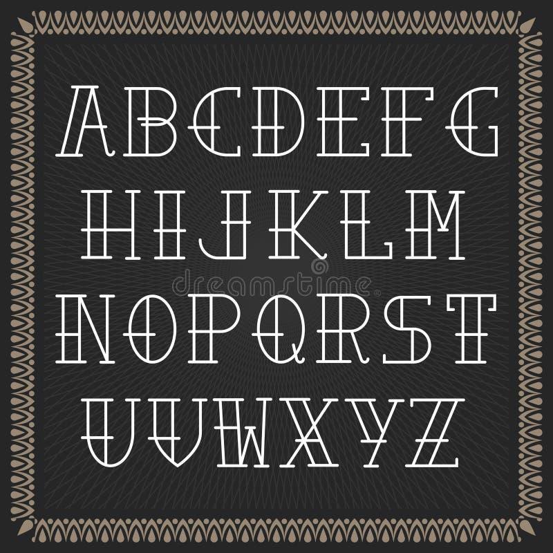 Διανυσματικό αλφάβητο χρώματος σε ένα πλαισιωμένο μαύρο υπόβαθρο στοκ εικόνες με δικαίωμα ελεύθερης χρήσης