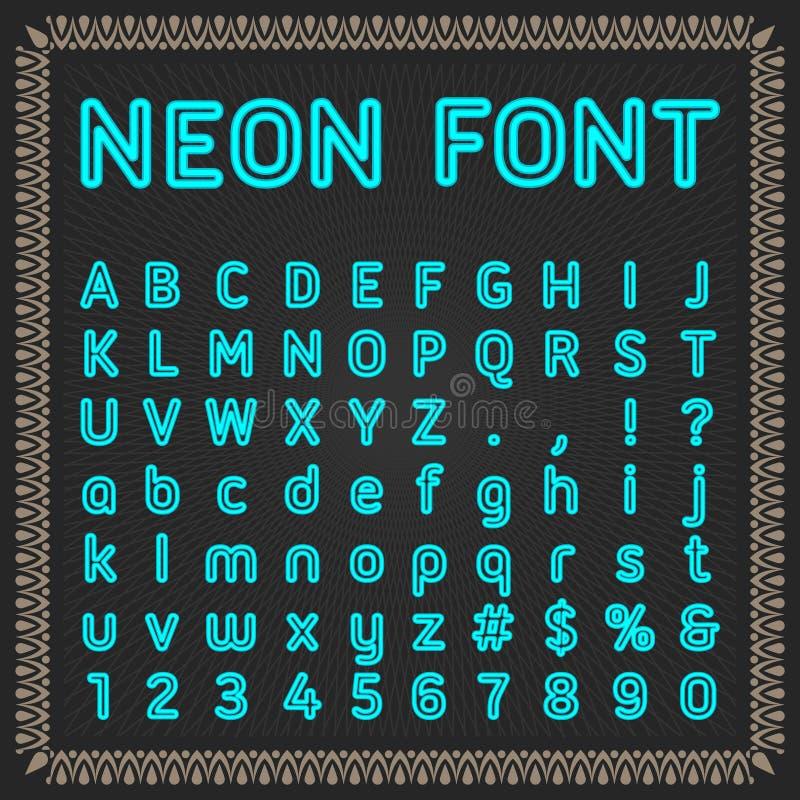 Διανυσματικό αλφάβητο χρώματος σε ένα πλαισιωμένο μαύρο υπόβαθρο στοκ φωτογραφίες με δικαίωμα ελεύθερης χρήσης