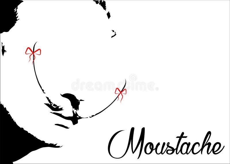 Διανυσματικό αναδρομική απομονωμένη ή άσπρης υπόβαθρο εικονιδίων ` MOUSTACHE, απεικόνιση αποθεμάτων