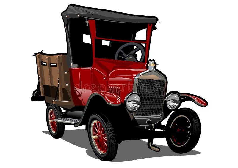 Διανυσματικό αναδρομικό φορτηγό κινούμενων σχεδίων διανυσματική απεικόνιση