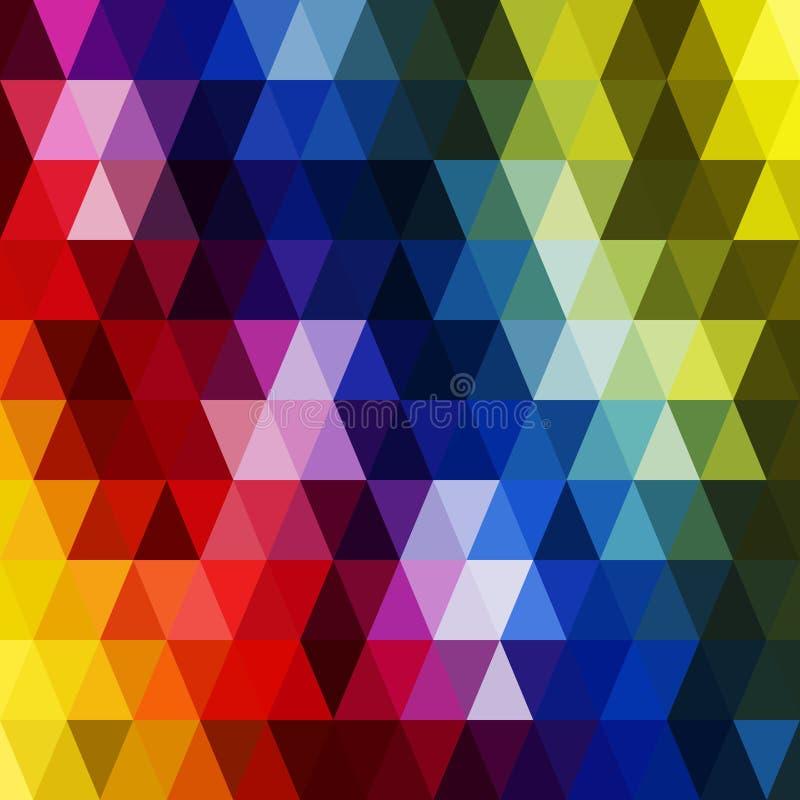 Διανυσματικό αναδρομικό σχέδιο των γεωμετρικών μορφών Ζωηρόχρωμο μωσαϊκό backdr διανυσματική απεικόνιση