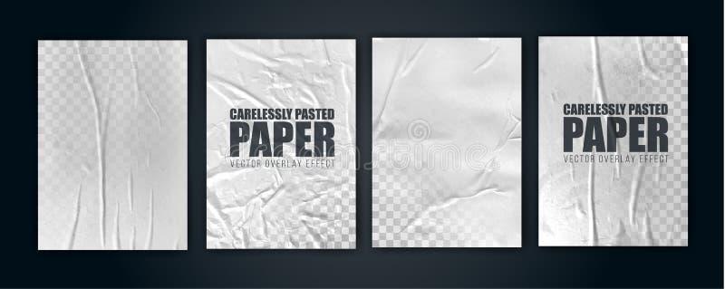 Διανυσματικό αντικείμενο απεικόνισης η άσχημα κολλημένη Λευκή Βίβλος τσαλακωμένη αφίσα απεικόνιση αποθεμάτων