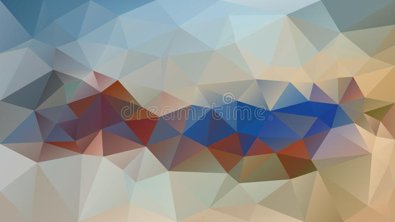 Διανυσματικό ανώμαλο polygonal υπόβαθρο - χαμηλό πολυ σχέδιο τριγώνων - ελαφρύς μπεζ, μπλε, καφετής, σκουριασμένος, χακί, ελιά πρ ελεύθερη απεικόνιση δικαιώματος