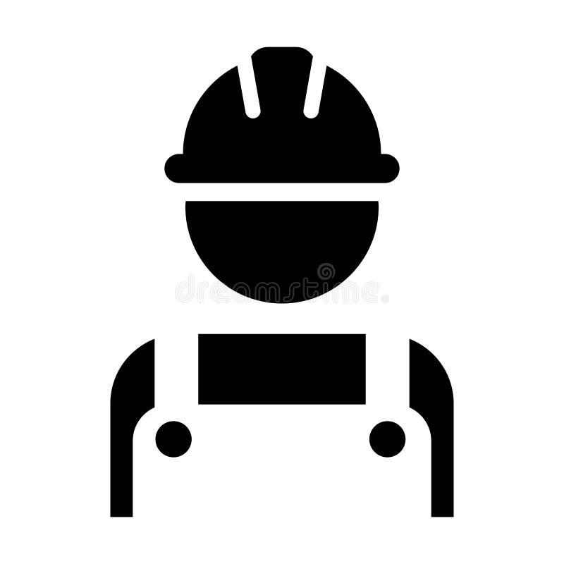 Διανυσματικό αρσενικό είδωλο σχεδιαγράμματος προσώπων εργατών οικοδομών εικονιδίων υπαλλήλων με hardhat το κράνος και σακάκι στο  ελεύθερη απεικόνιση δικαιώματος