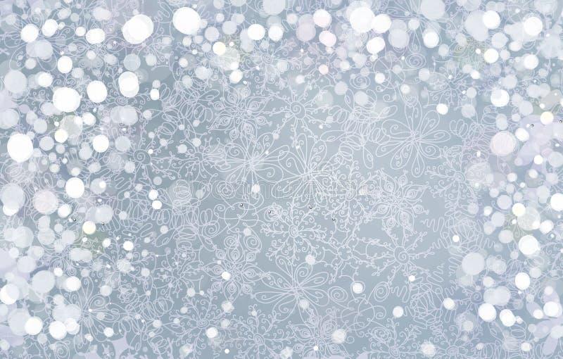 Διανυσματικό ασημένιο υπόβαθρο για το σχέδιο Χριστουγέννων. διανυσματική απεικόνιση