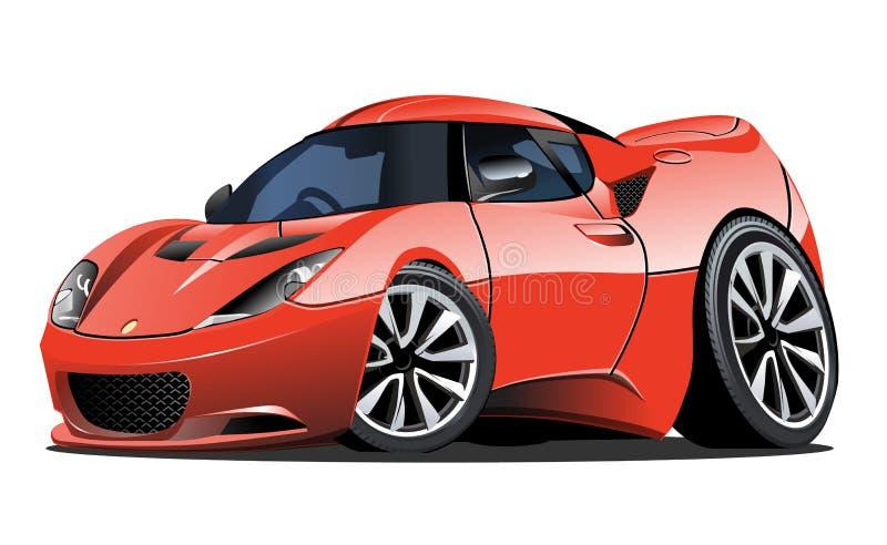 Διανυσματικό αυτοκίνητο κινούμενων σχεδίων ελεύθερη απεικόνιση δικαιώματος