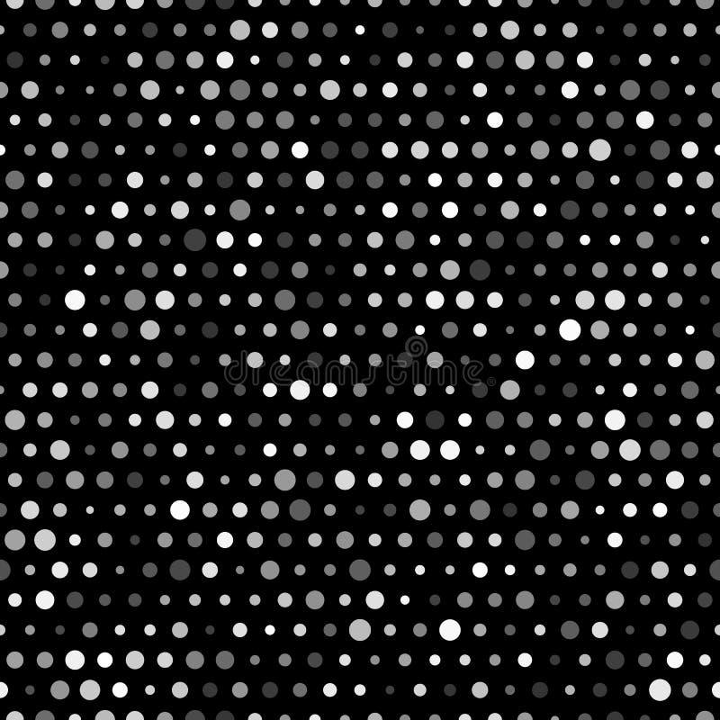 Διανυσματικό αφηρημένο αναδρομικό άνευ ραφής σχέδιο με τους κύκλους απεικόνιση αποθεμάτων