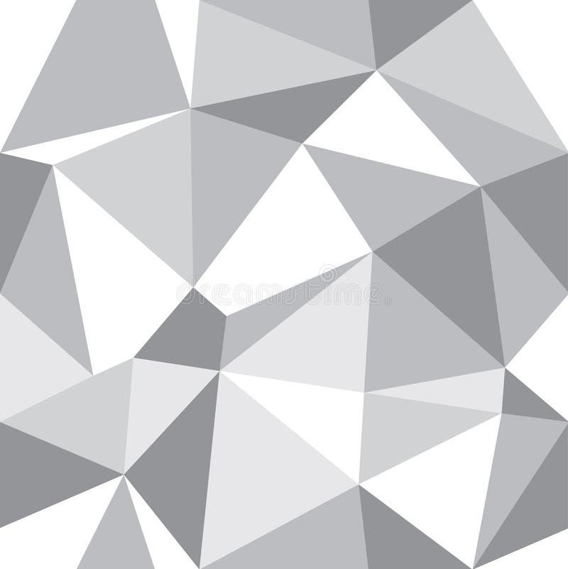 Διανυσματικό αφηρημένο γεωμετρικό γκρίζο υπόβαθρο τριγώνων Κατάλληλος για το κλωστοϋφαντουργικό προϊόν, το περικάλυμμα δώρων και  ελεύθερη απεικόνιση δικαιώματος