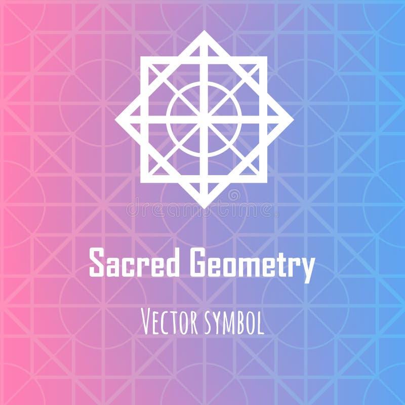 Διανυσματικό αφηρημένο γεωμετρικό σύμβολο Σύγχρονο ιερό θέμα γεωμετρίας απεικόνιση αποθεμάτων