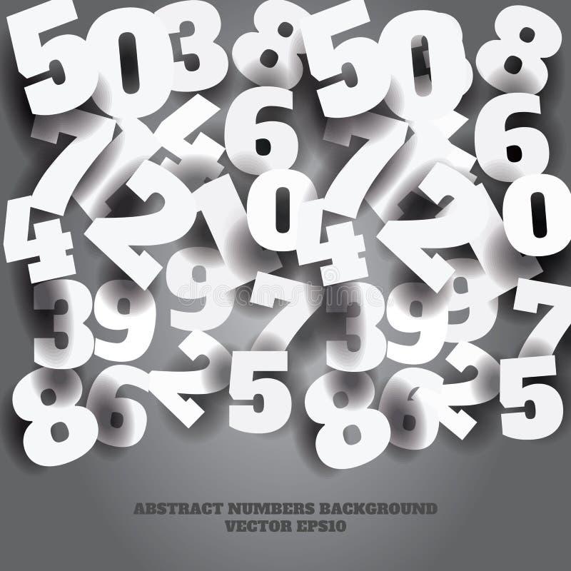 Διανυσματικό αφηρημένο γκρίζο υπόβαθρο με τους τρισδιάστατους αριθμούς διανυσματική απεικόνιση