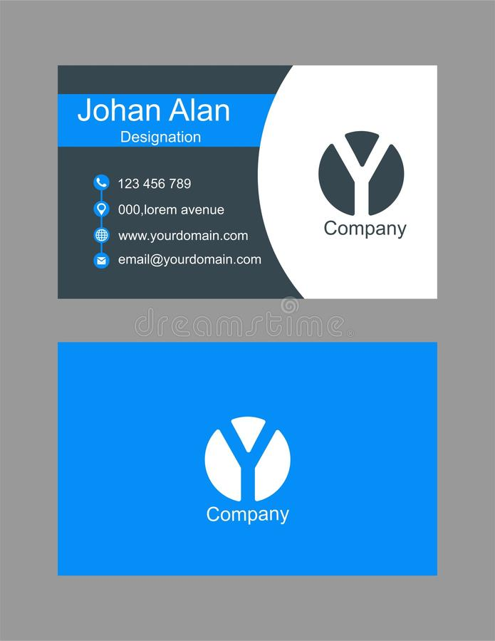 Διανυσματικό αφηρημένο δημιουργικό πρότυπο επαγγελματικών καρτών στοκ εικόνες