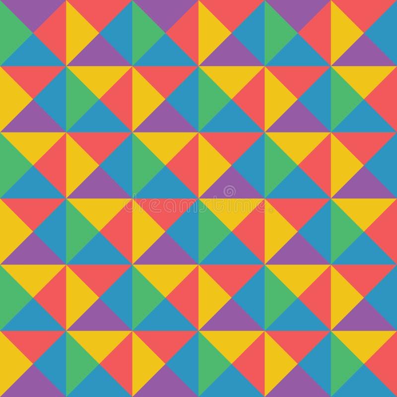 Διανυσματικό αφηρημένο ζωηρόχρωμο γεωμετρικό σχέδιο αναδρομικό και deco ST τέχνης διανυσματική απεικόνιση