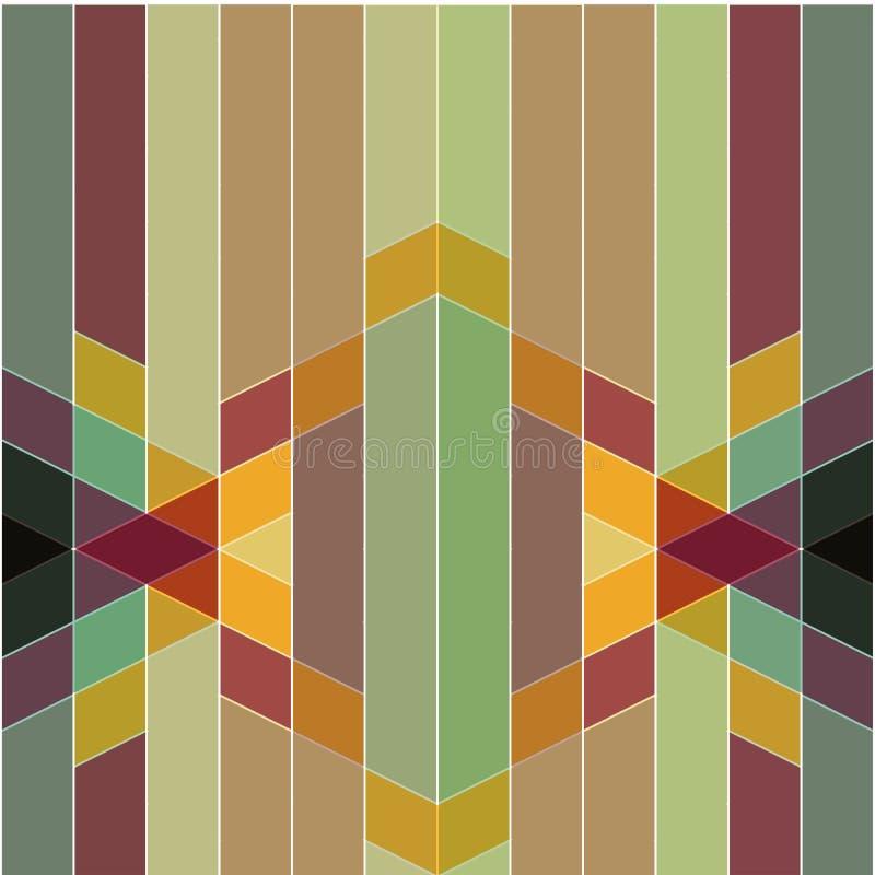 Διανυσματικό αφηρημένο ζωηρόχρωμο γεωμετρικό σχέδιο αναδρομικό και deco ST τέχνης απεικόνιση αποθεμάτων
