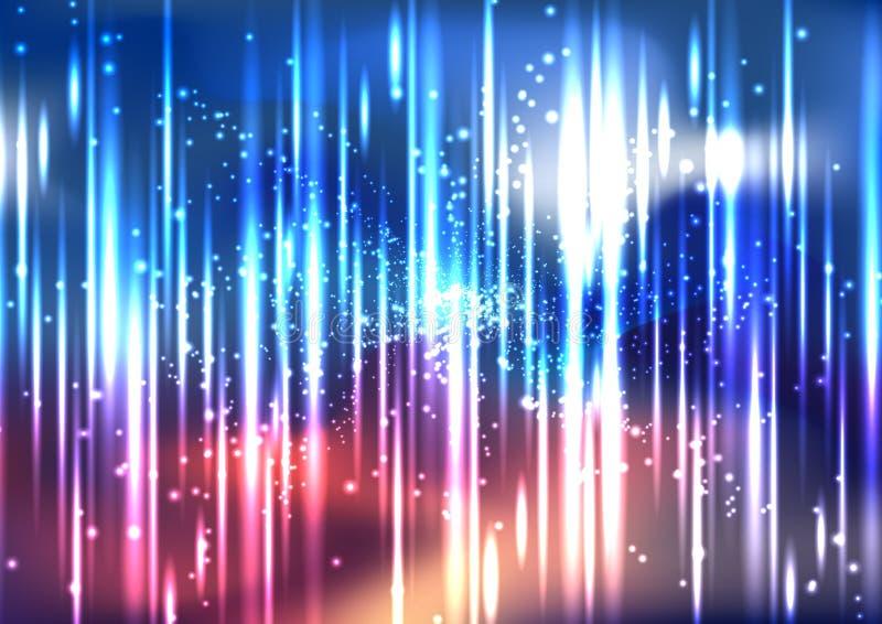 Διανυσματικό αφηρημένο ζωηρόχρωμο διαστημικό υπόβαθρο ελαφριάς επίδρασης απεικόνιση αποθεμάτων