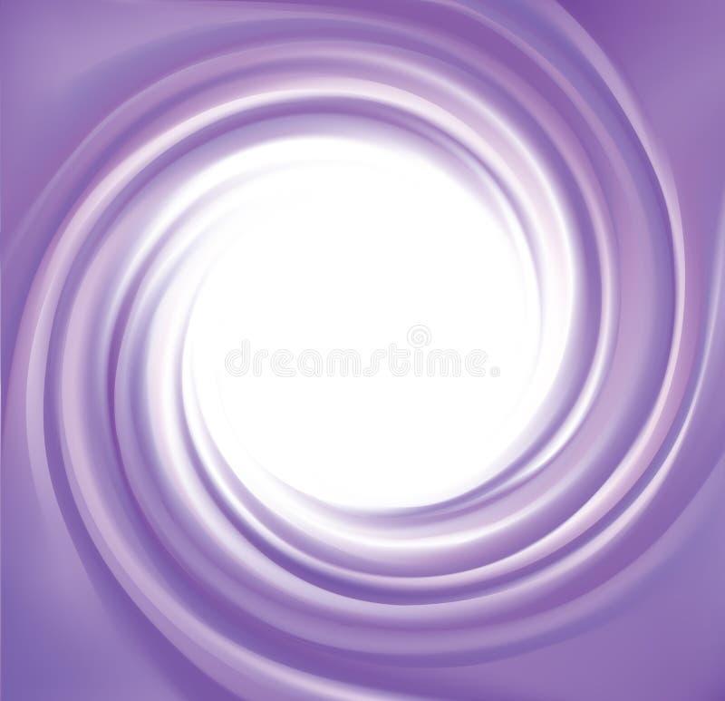Διανυσματικό αφηρημένο ιώδες υπόβαθρο στροβίλου διανυσματική απεικόνιση