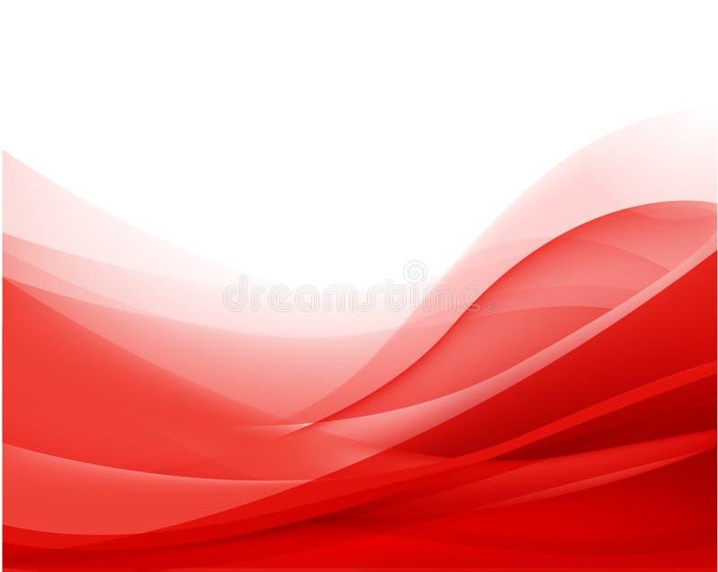 Διανυσματικό αφηρημένο κόκκινο κυματιστό υπόβαθρο, ταπετσαρία ελεύθερη απεικόνιση δικαιώματος